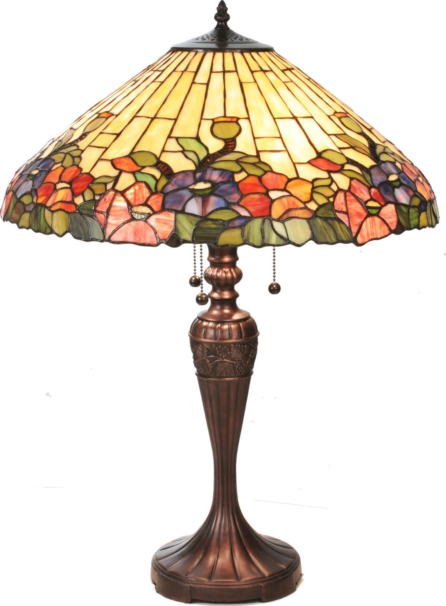 Tiffany Hollyhock Table Lamp Lamps Tiffany Style Lamp Tiffany