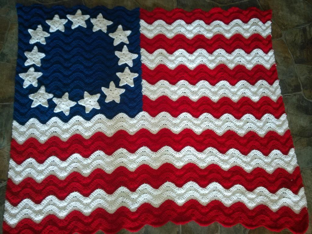 4 Name Crocheting Flag Afghan Lapghan Pattern Crochet