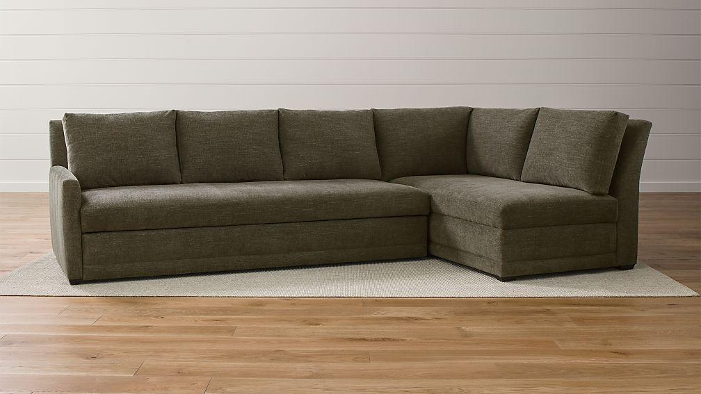 Reston 2 Piece Right Arm Bumper Trundle Sleeper Sectional Sofa Sectional Sleeper Sofa Sleeper Sectional Sectional Sofa