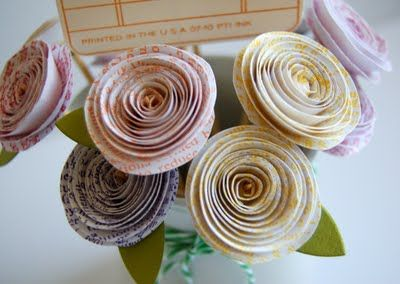 Make paper flowers out of book pages birthday inspiration make paper flowers out of book pages mightylinksfo