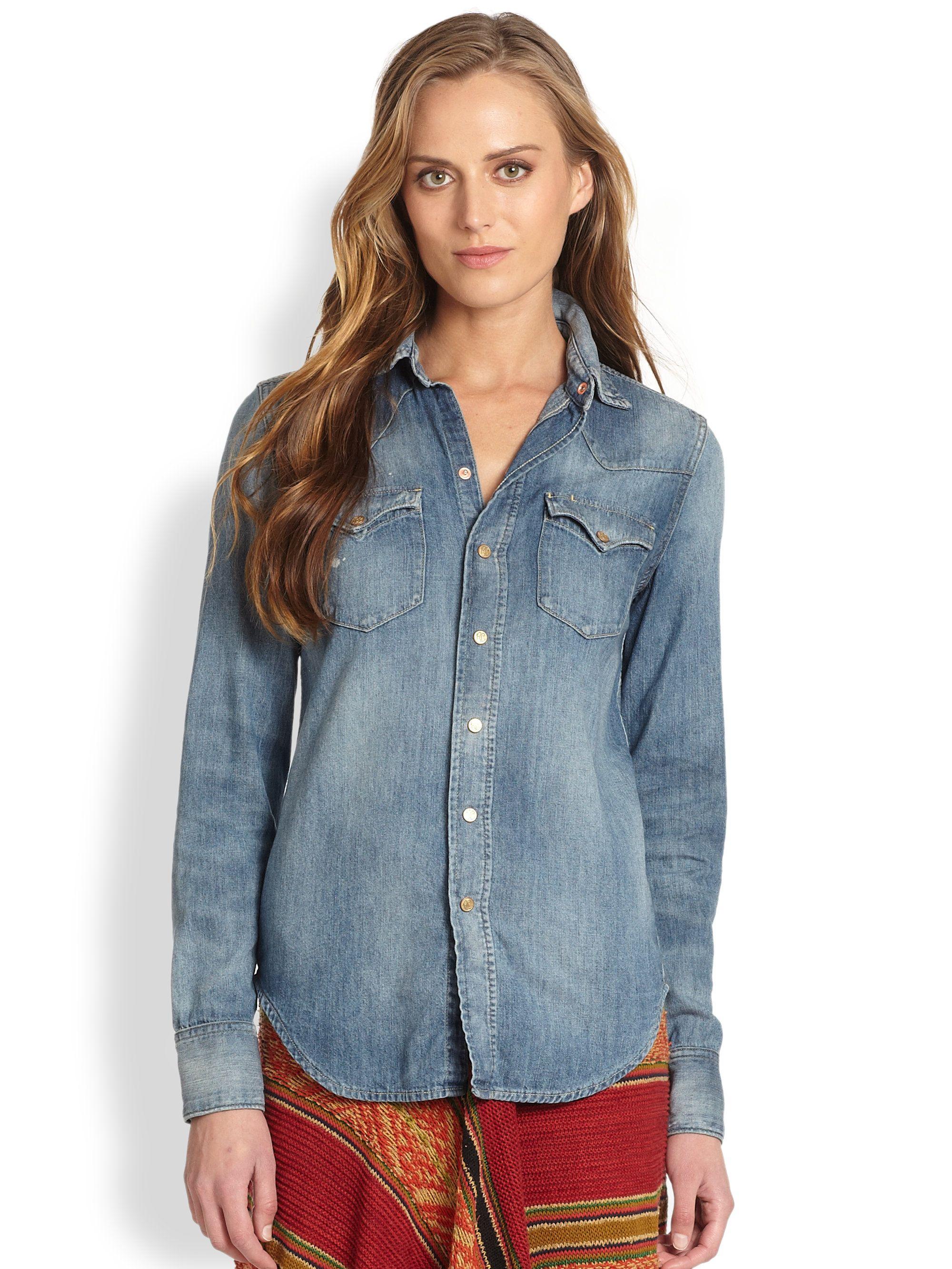 a4dc9b2dcf2ecf Ralph Lauren Blue Label Bradwell Wash Western Chambray Shirt ...