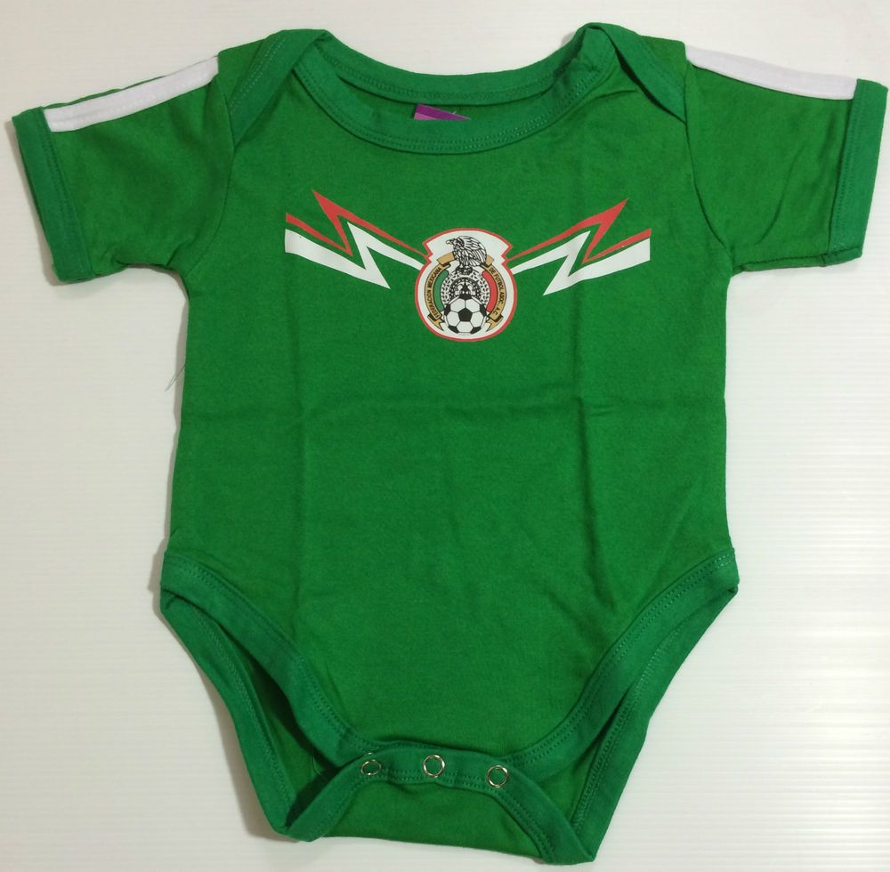 NEW Baby MEXICO Soccer Fans Onesies Jumper Sizes 0-18 Months Old Chicharito f1b2d7279