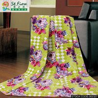 FUANNA Hot Sale Warm Yellow Floral Blanket Chinese Style High Quality  150*200 cm  xuan mei shi guang