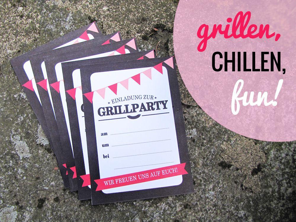 planst du eine #grillparty? hier gibts die #einladung als #freebie, Hause und Garten