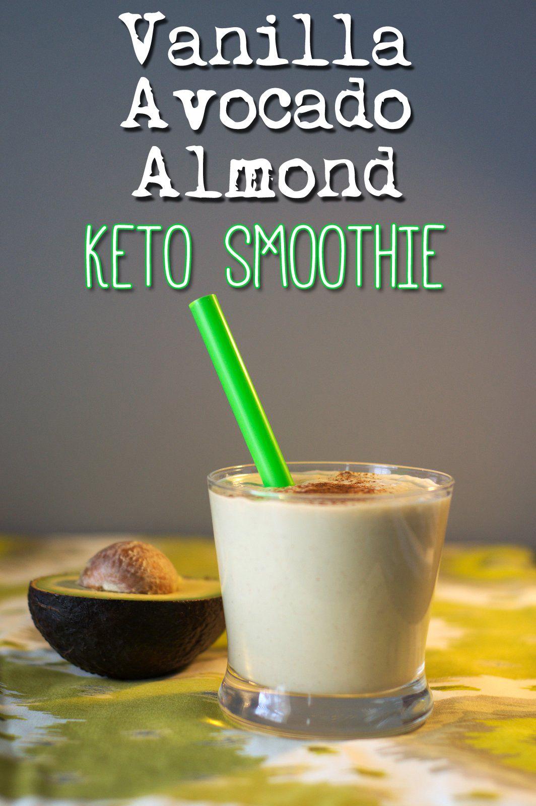 Low Carb Keto Vanilla Avocado Almond Smoothie   Low carb