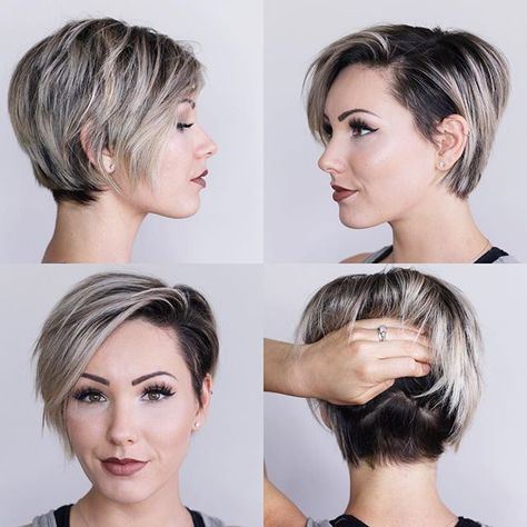 Here Is An Updated 360 View Of My Newest Haircut By Andrewdoeshair Styled Using Adhbrand Adhdry Long Pixie Hairstyles Longer Pixie Haircut Hair Styles