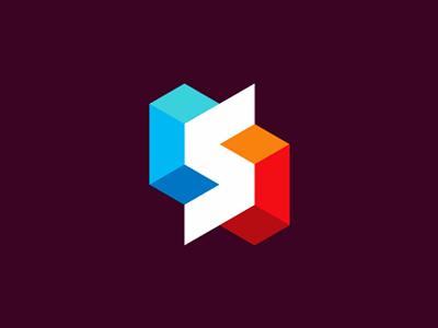 s system structure logo design symbol branding