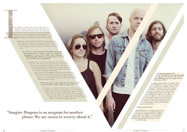 Music Magazine Spread #2 on Behance | Harmonious Designs ...