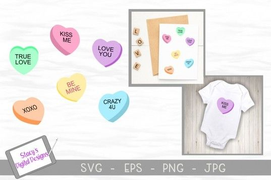 Download Valentine SVG - Candy conversation hearts By Stacy's ...
