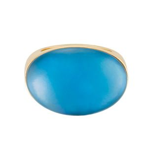 Rings - Vhernier 18k rose gold Smart ring with blue topaz and MOP