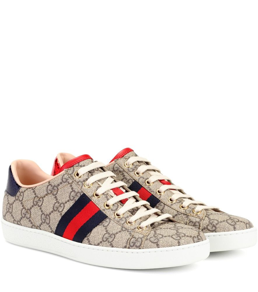 Sneakers Ace Gg Supreme Sneakers Mode Gucci Schuhe Schlangenleder
