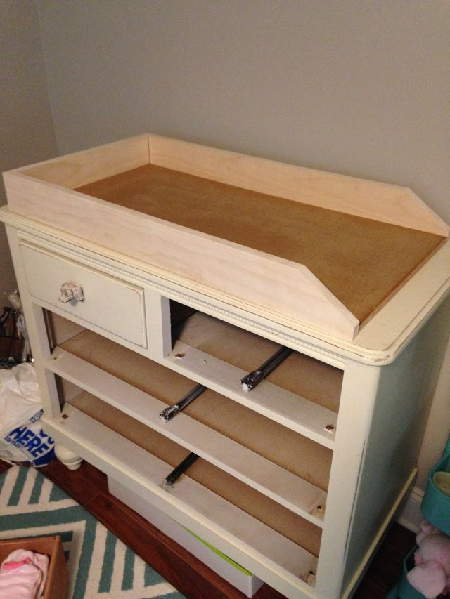 Convert A Dresser Into A Changing Table Numbers Amp Nails