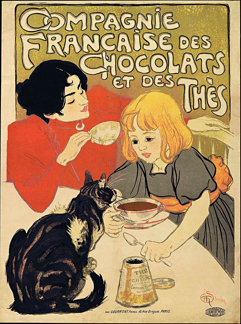 Steinlen Compagnie Francaise Chocolats Vintage French Poster Wall ...