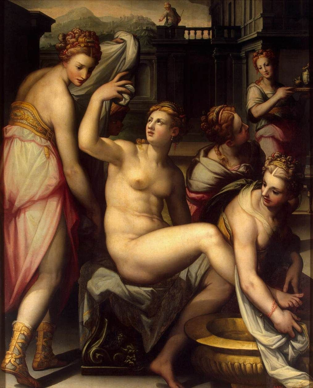 NALDINI, Giovan Battista Italian painter, Florentine school (b. ca. 1537, Fiesole, d. 1591, Firenze) Bathsheba1570sOil on canvas, 182 x 150 cmThe Hermitage, St. Petersburg