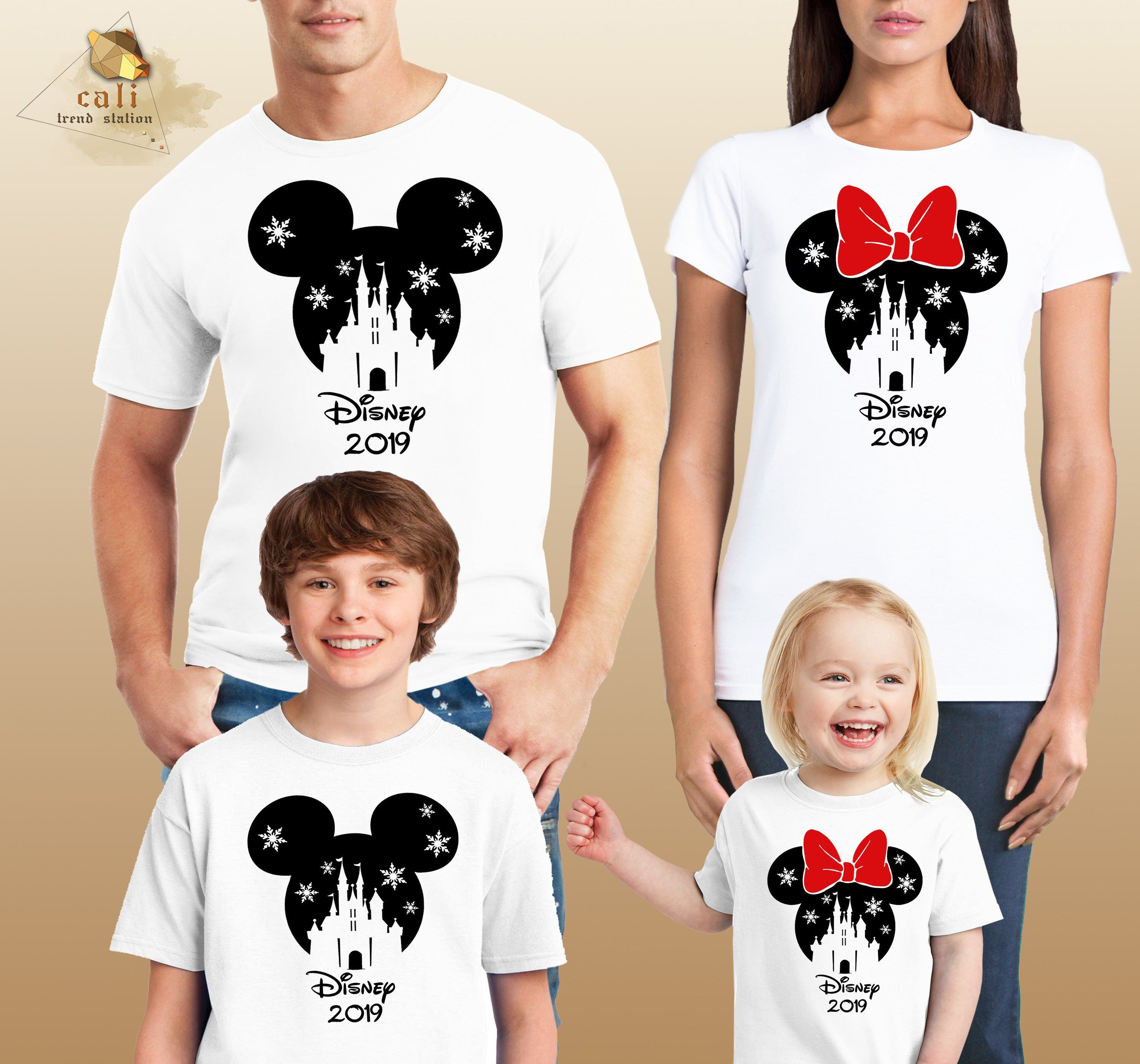 c4887dad Disney Family Shirts 2019 Cotton Mickey and Minnie Mouse Mom Dad Boys Girls  T-Shirts