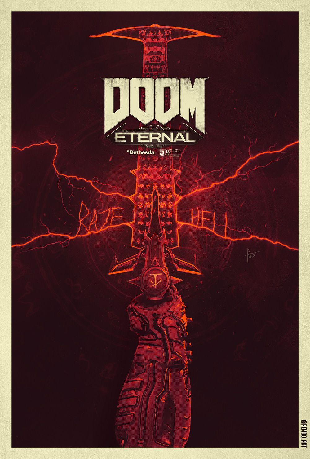 doom eternal poster doom doom