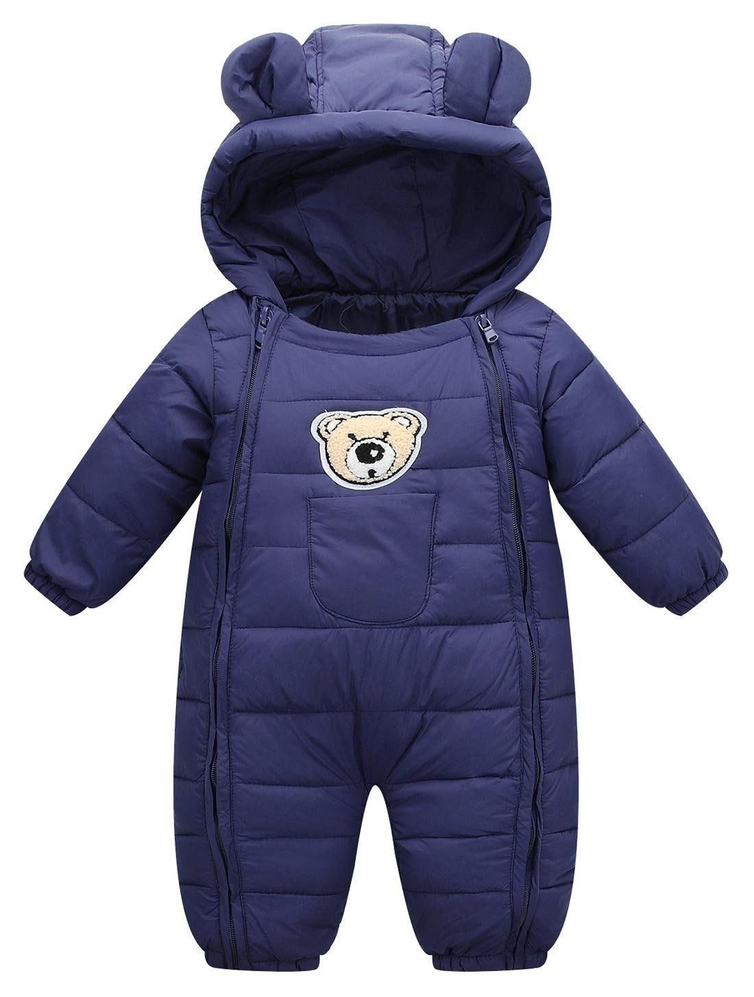 e0622b97f1db Newborn Toddler Baby Clothes Girls Boys Romper Winter Jumpsuit ...