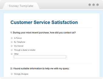 Customer Service Satisfaction  Sample Questionaire