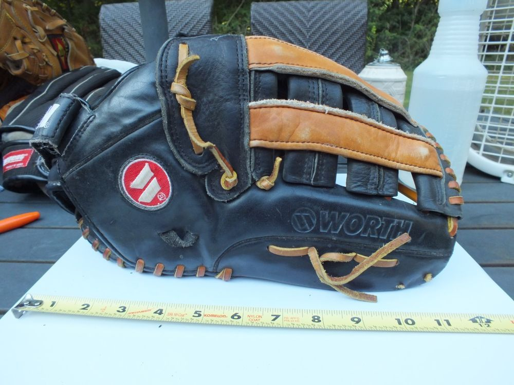 Worth W14 2 14 All Leather Large Right Hand Throw Glove Baseball Mit Right Hand Worth Baseball Glove Leather Messenger Bag