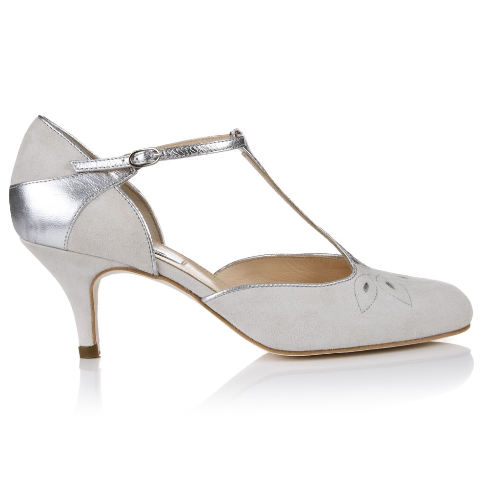 Vintage Inspired Bridal Shoes, Elodie Ivory Suede Are An