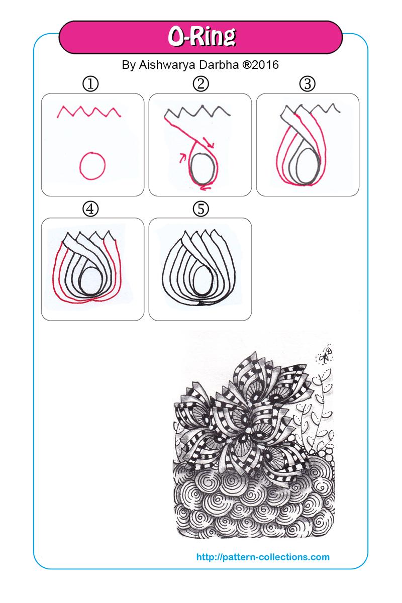 O Ring Muster Zeichnen Anleitungen Zentangle Muster Zentangle