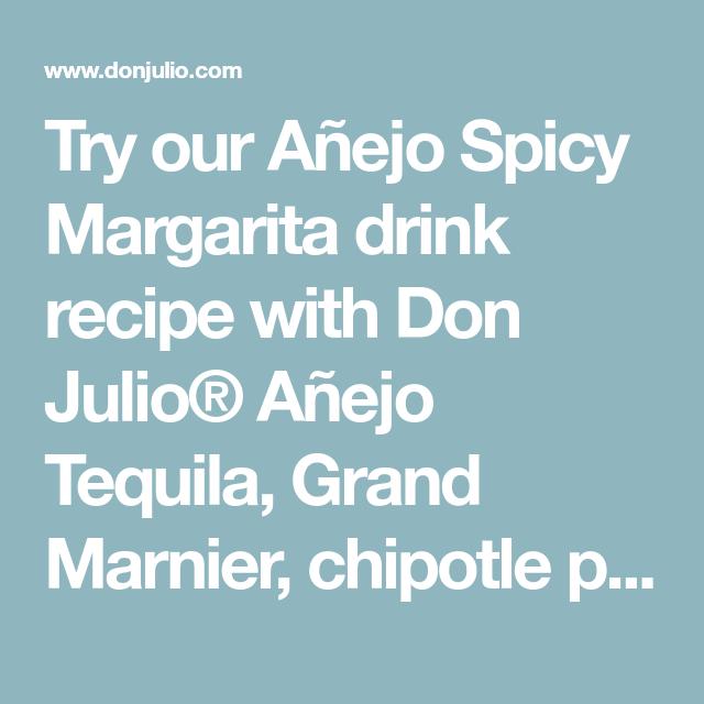 Añejo Spicy Margarita