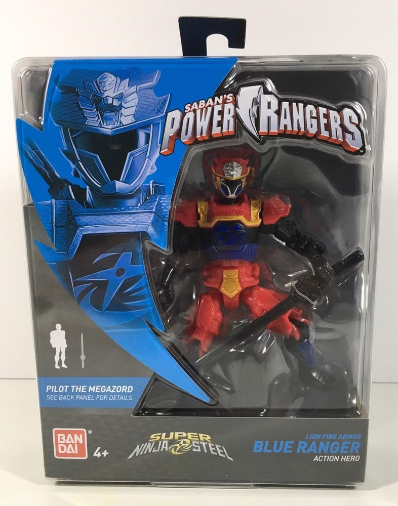 Power Rangers Super Ninja Steel Lion Fire Armor Blue Ranger