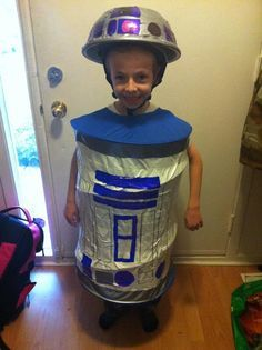 Diy r2d2 costume for under 10 costumes pinterest r2d2 diy r2d2 costume for under 10 solutioingenieria Image collections