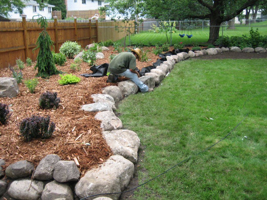 Natural Stone Edging All You Need To Know About The Garden Stone Edging Stone Landscaping Rock Garden Design Landscaping With Rocks