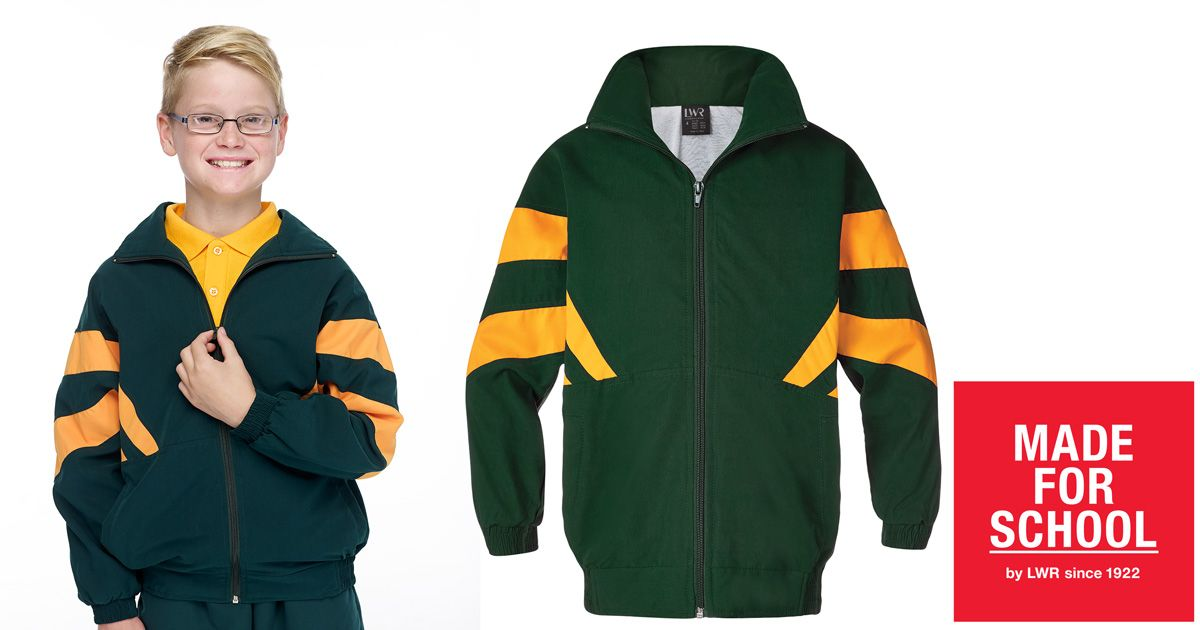 Finish off your gold and green uniform with our soft Sutton Microfibre Sports Jacket, it's perfect for your budding Aussie Athlete.