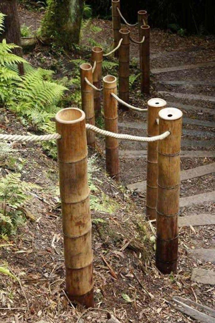 Bambou En Jardiniere Faire Une Cloture En Bambou Bambous Jardin