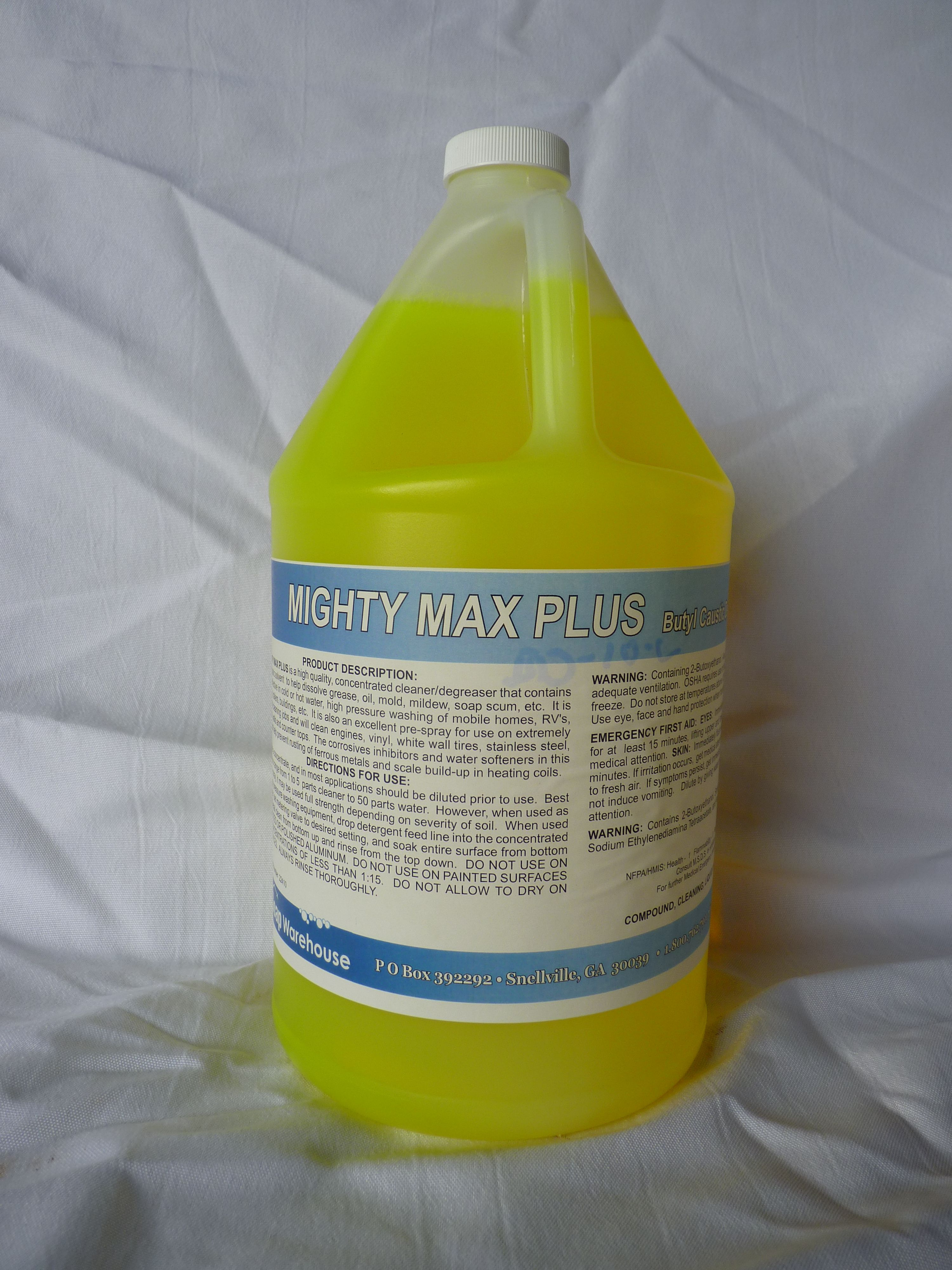 Mighty Max Plus Stronger Than Might Max The Plus Is A Kick Of Sodium Hydroxide A Little Bit Of Caustic To Get Heavy Cleaning Done Gutters Cleaning Degreasers