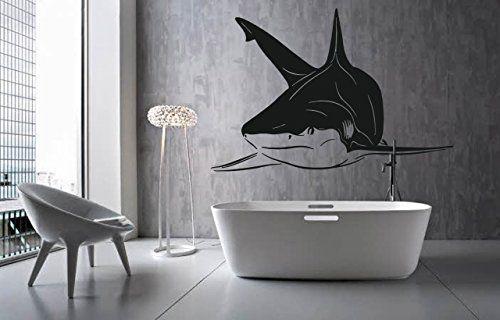Ik1218 Wall Decal Sticker White Shark Sea Predator Fish
