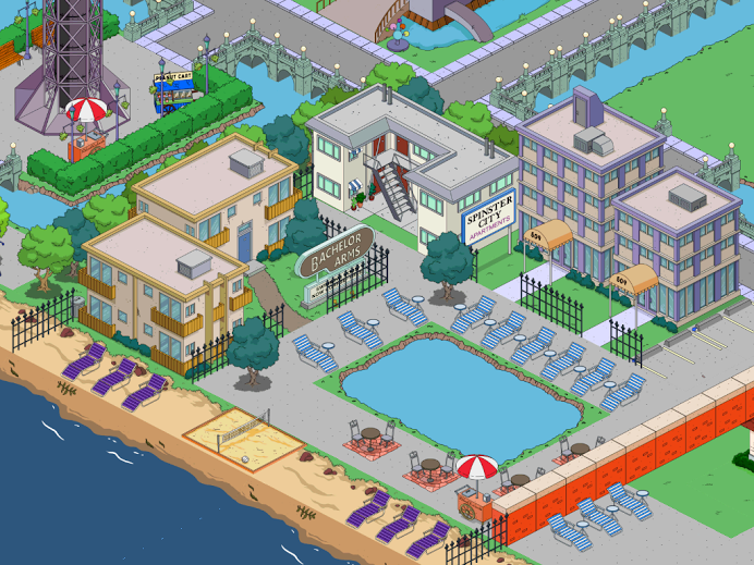 Simpsons tapped out house layout