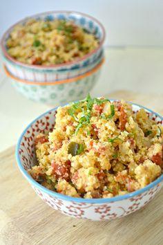 A new twist on a classic rice dish--try using cauliflower instead for a grain-free Cauliflower Spanish Rice dish.