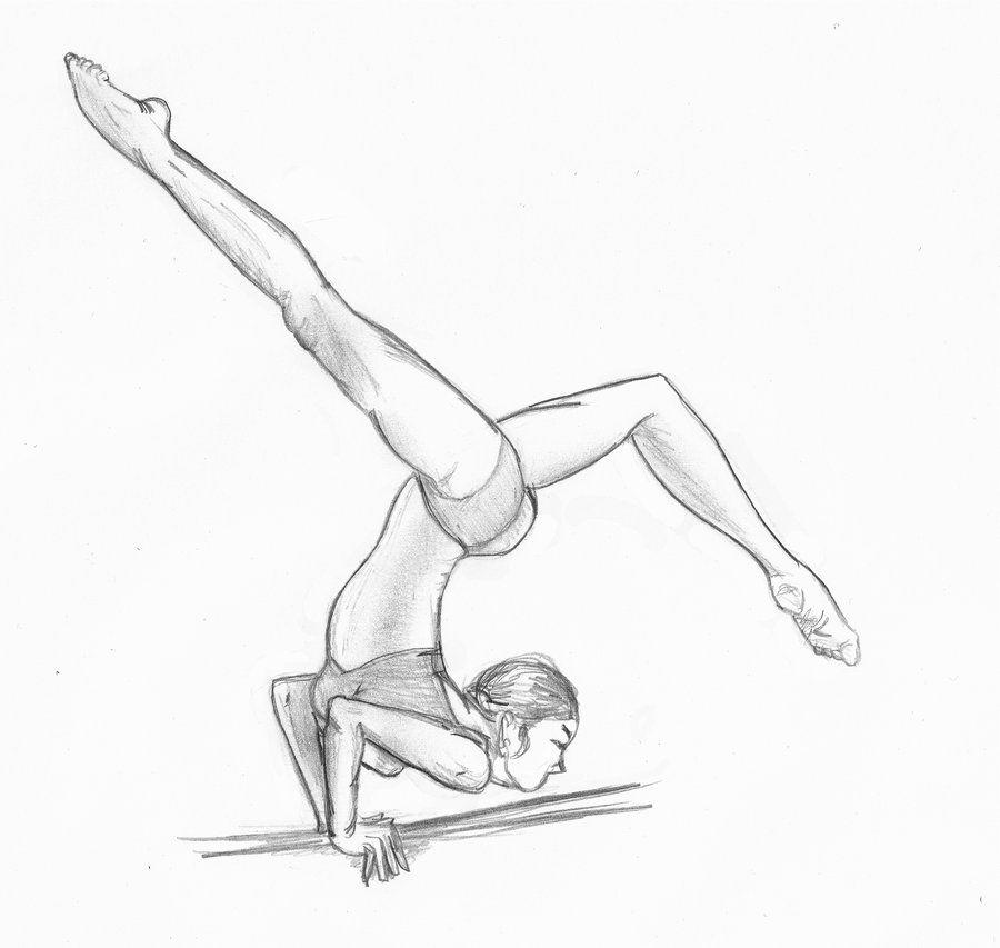 Рисунки гимнастки для срисовки карандашом