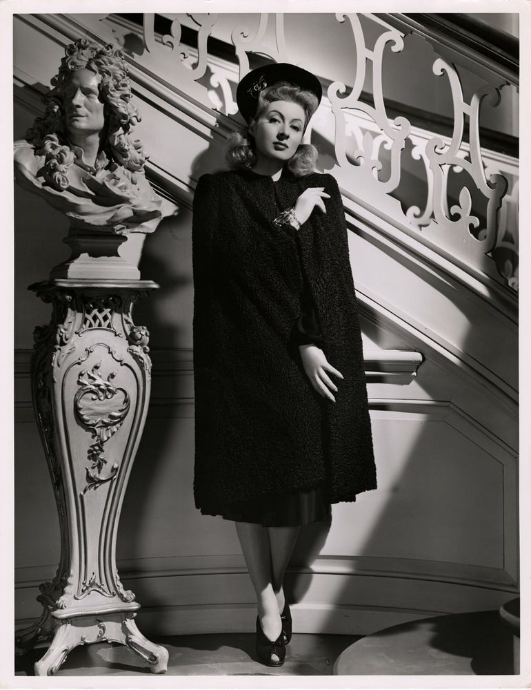 1940s GREER GARSON STUNNING ART DECO GLAMOUR LARGE FORMAT PORTRAIT PHOTOGRAPH