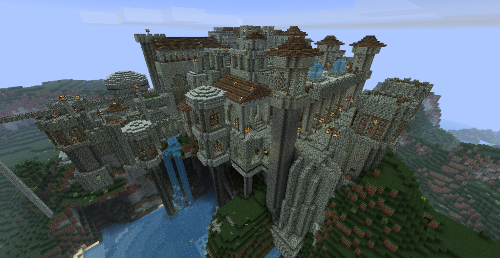 . Floating Castle   Minecraft castle  Castles and Minecraft ideas