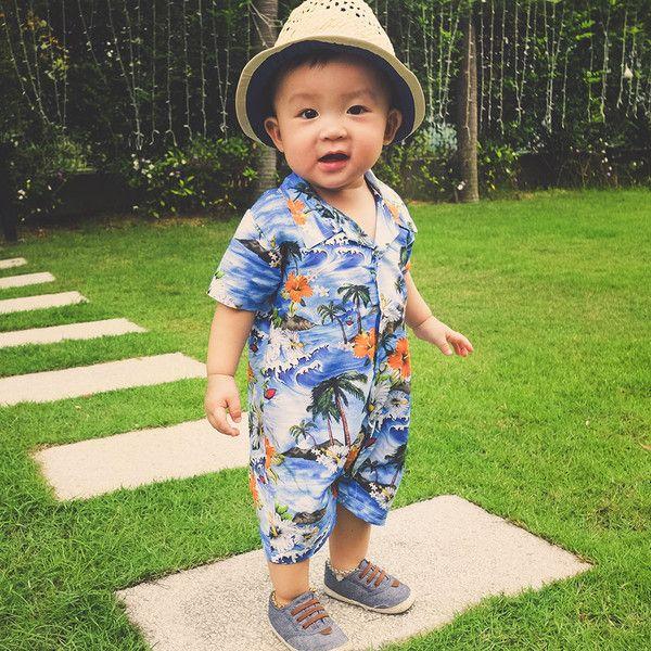 Oh Baby London Hawaiian Shirt Collar Playsuit | Wonderx