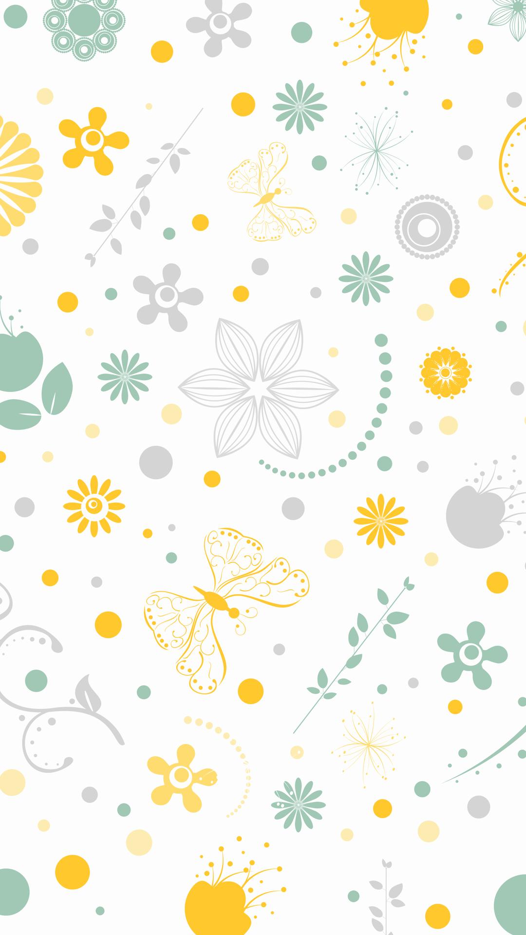 Butterflies In The Flowers Wallpaper In 2020 Flower Wallpaper