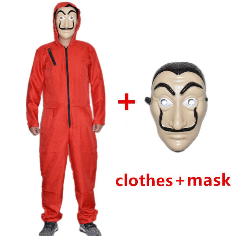 e2dc1bed6 La Casa De Papel Cosplay costume Money Heist costumes with mask Halloween  Party #SexeMara #Lacasadepapel #Halloween