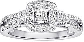 jcpenney FINE JEWELRY Certified 1/2 CT. T.W. Diamond 10K White Gold Bridal Ring on shopstyle.com