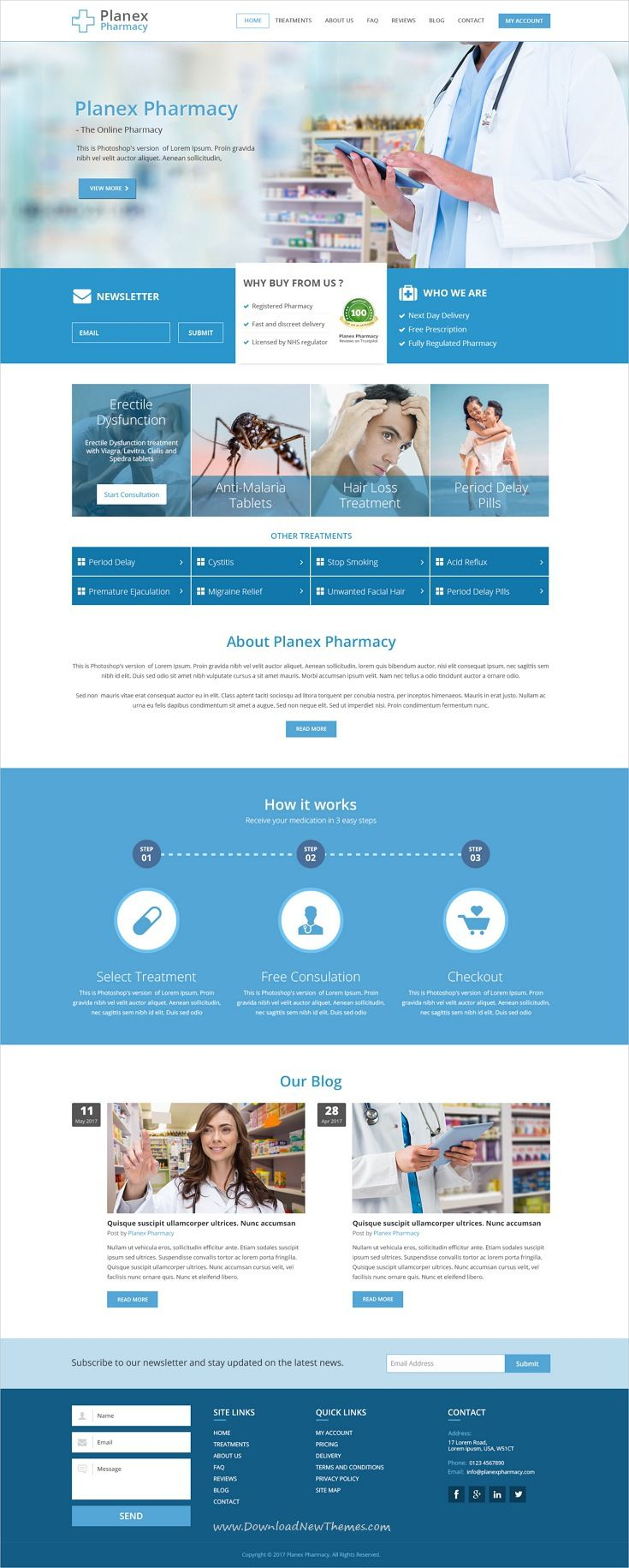 planex pharmacy is clean and modern psd template for medical