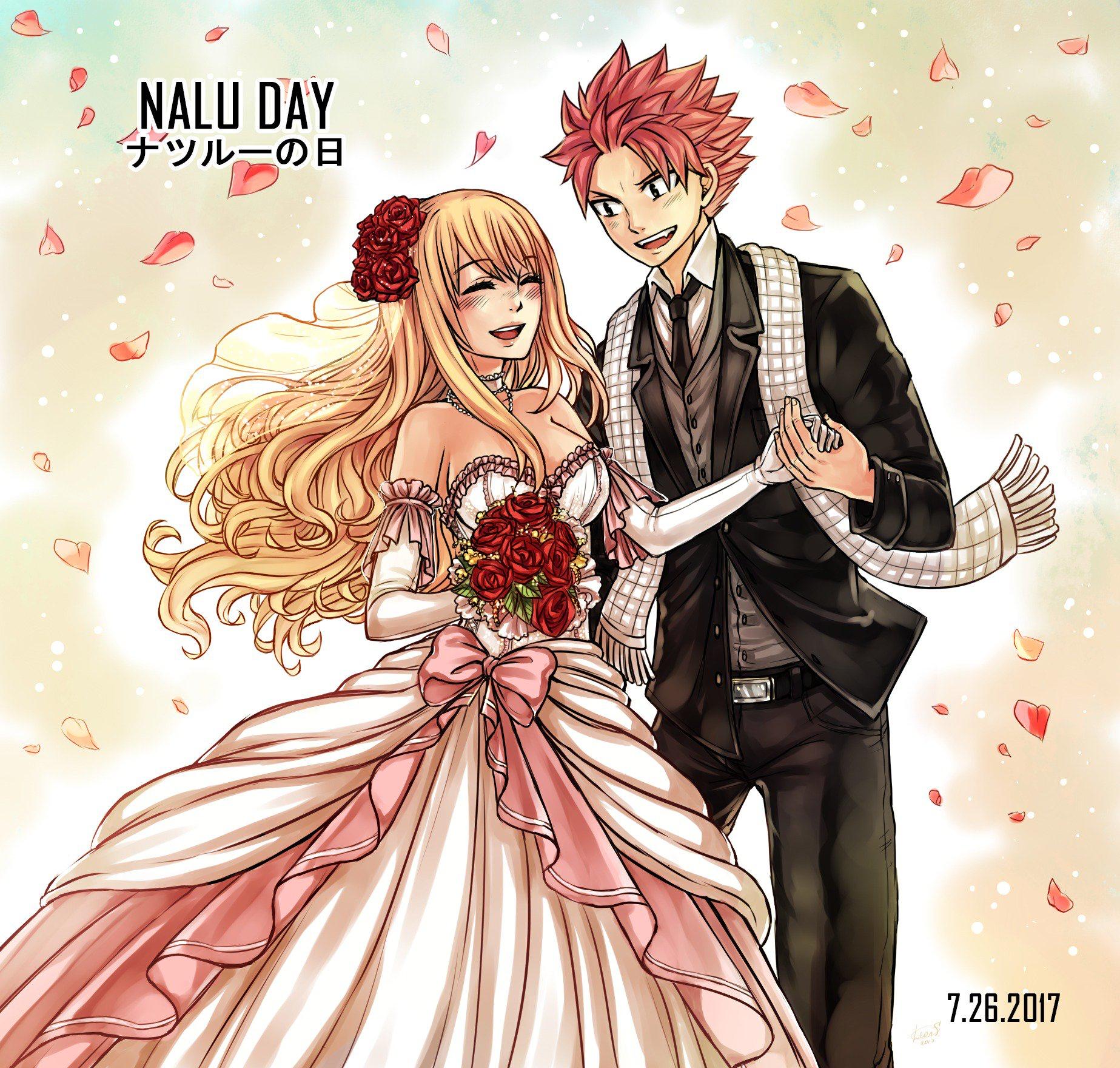Natsu Dragneel x Lucy Heartfilia - NaLu wedding (Twitter ...