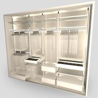 Stainless Steel Walk In Wardrobe Pole System And Flexible Storage 88db Singapore
