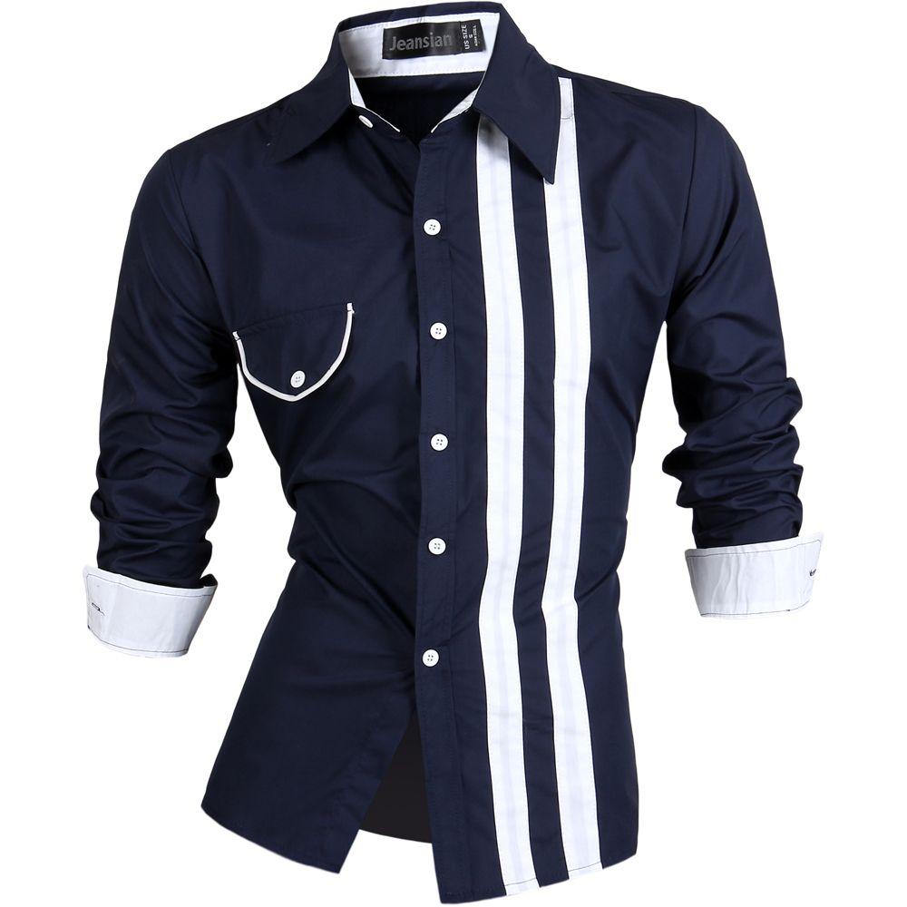 Encontrar Más Camisas Casuales Información acerca de Primavera otoño 2016  camisa Casual camisa para hombre Slim Fit camiseta de manga larga vestido  Chemise ... fafca8119e8