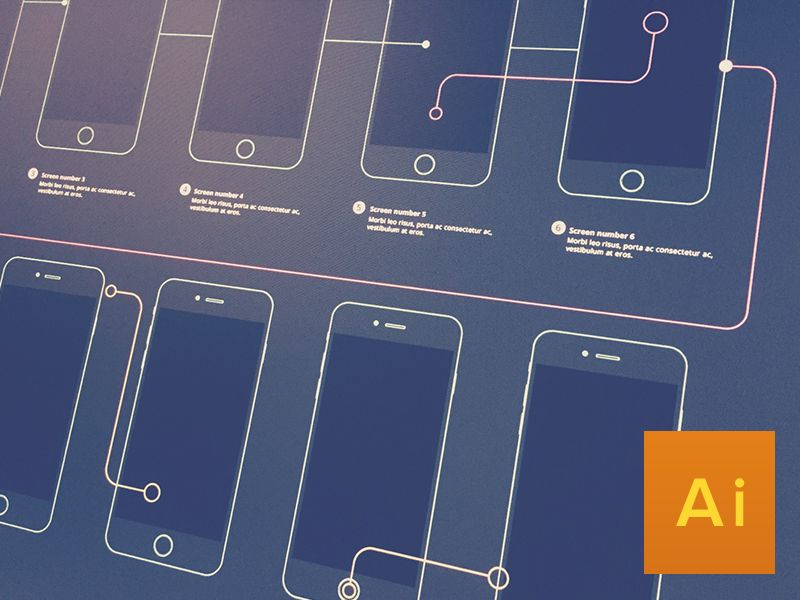 50d6a7d3dc696b15d0338a439e210c74 wireframe flow for iphone 6 and iphone 6 plus wireframe, ui ux  at edmiracle.co