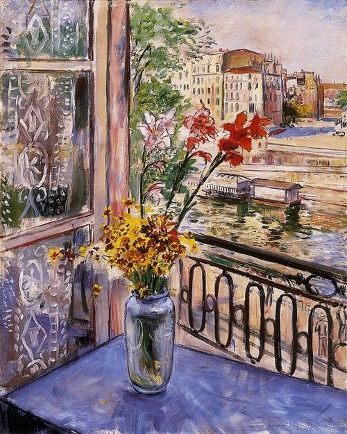 From the window of Parisian studio, 1937, Jobbágyi Gaiger Miklós - Peindre Fenetre Bois Interieur