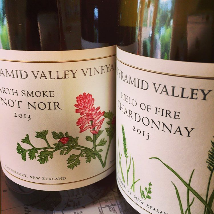 We've been working towards presenting these beautiful @pyramidvalleyvineyards wines on our list for years! Earth Smoke #pinotnoir and Field of Fire #chardonnay #biodynamic #newzealandwine  Thx to @imbibo101 for your awesome service!  #dreamscometrue #happychef #chuffed! by merrijigkitchen