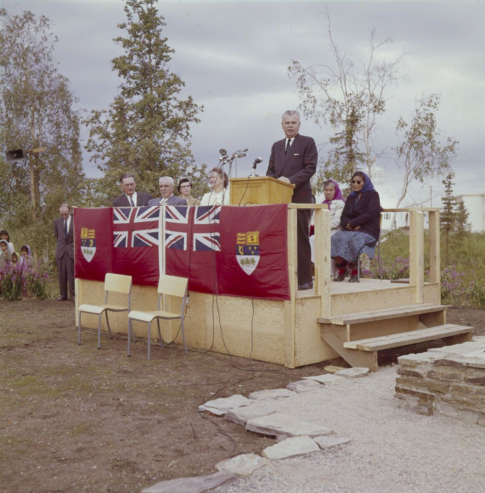 Prime Minister John G Diefenbaker At The Official Opening Of